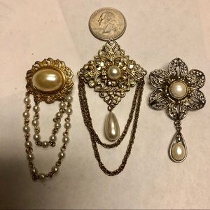3 Small Brooch Pins for 1 Money!